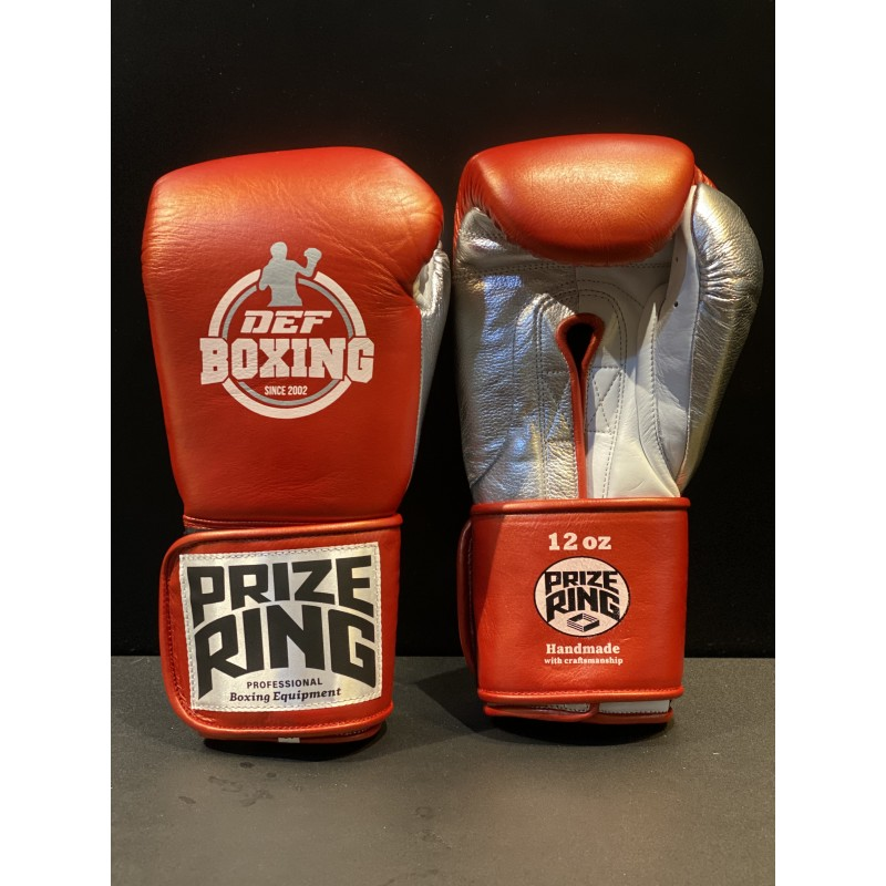 DEF Boxing X Prize Ring Boxing Gloves (Red)