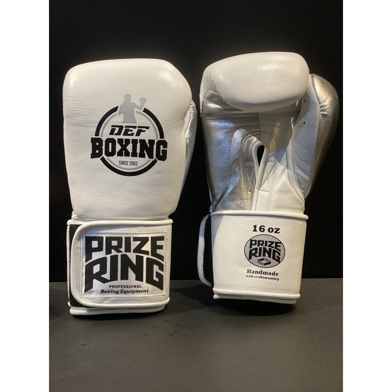 DEF Boxing X Prize Ring Boxing Gloves (White)