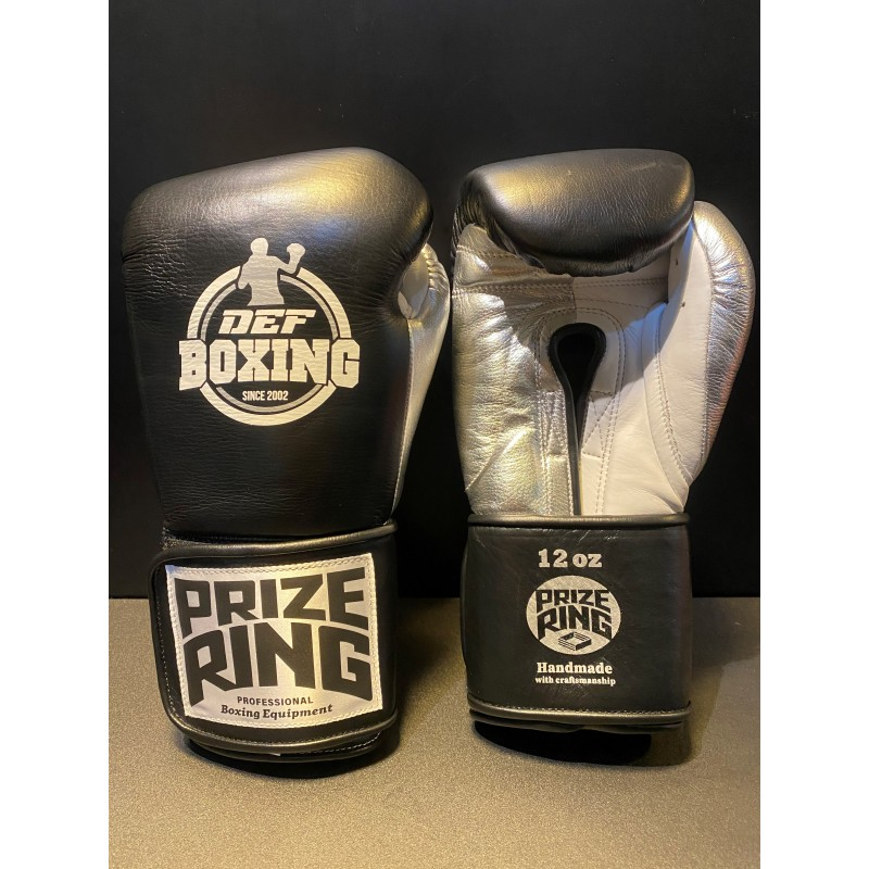 DEF Boxing X Prize Ring Boxing Gloves (Black)