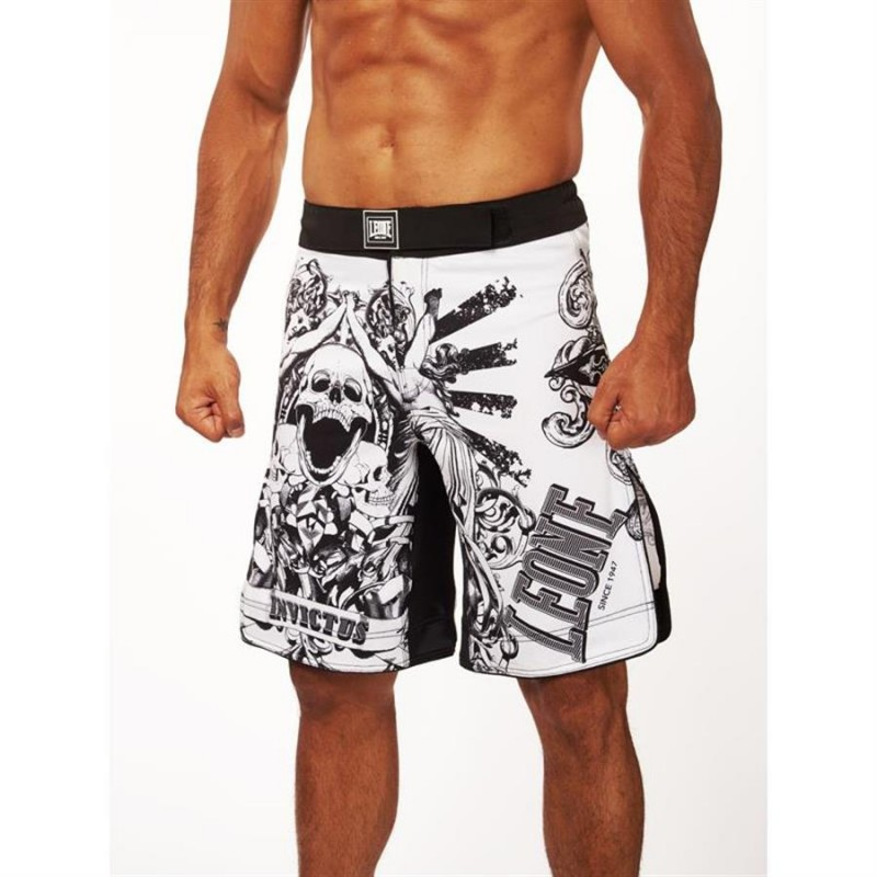 Leone MMA INVICTUS SHORTS (White)