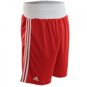 Adidas Boxing Shorts (AIBA Red/White)