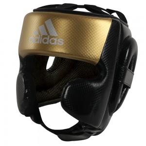 Adidas Hybrid Sparring Head Guard (Black/Gold)