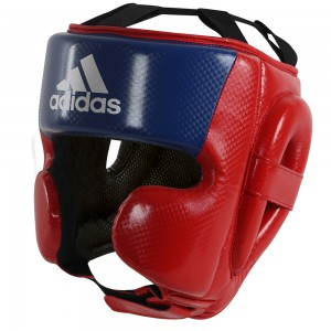 Adidas Hybrid Sparring Head Guard (Blue/Red)