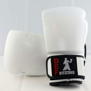 DEF Boxing Gloves (White)