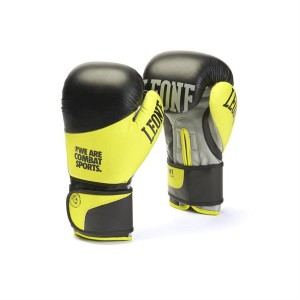 Leone Boxing Gloves - Fight GN052 (Yellow/Black)
