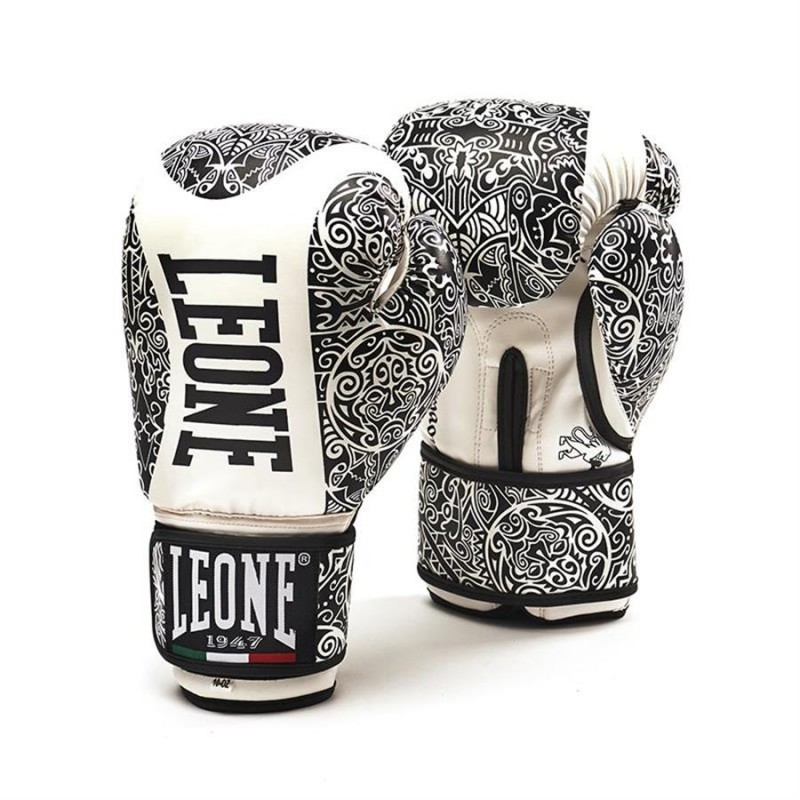 Leone Maori Boxing Gloves - GN070 (Black/White)