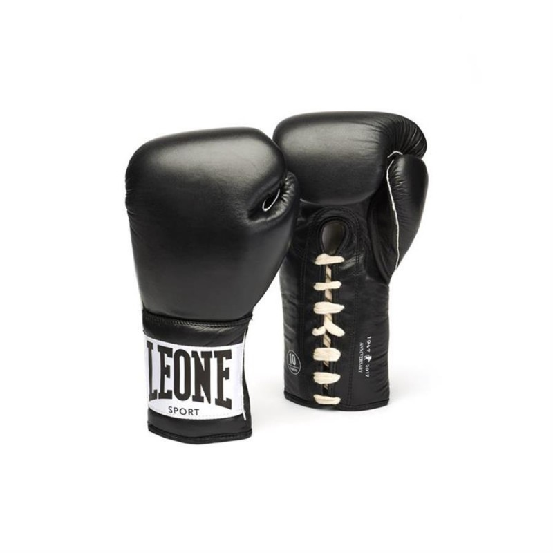 Leone Anniversary Boxing Gloves - GN100 (Black)