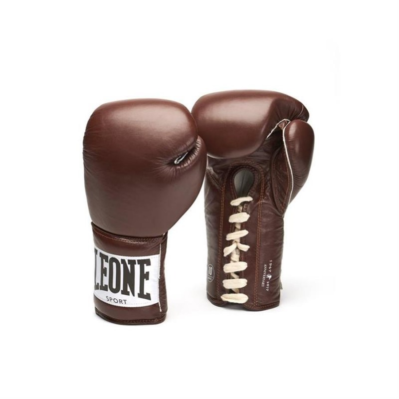 Leone Boxing Gloves - Anniversary GN100 (Brown)