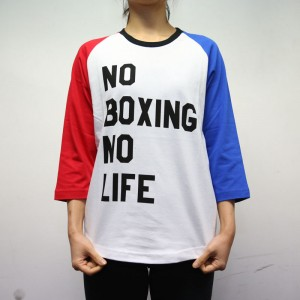 RSC No Boxing No Life 3/4 Tee (White)
