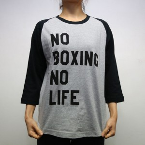 RSC No Boxing No Life 3/4 Tee (Grey)