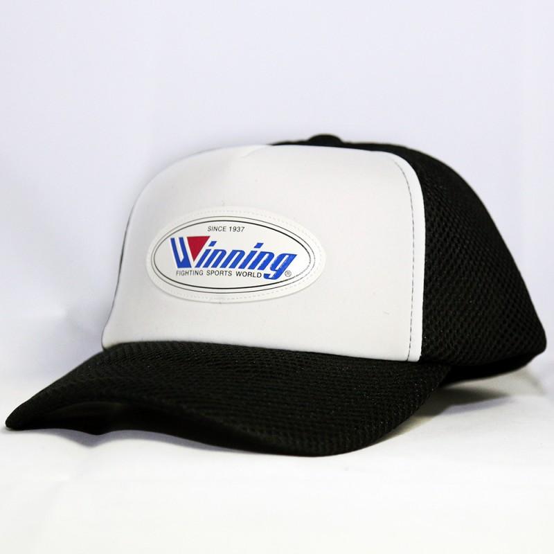 Winning Mesh Baseball Cap (Black/White)