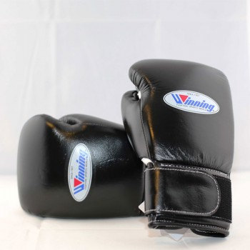 Winning Boxing Gloves (Velcro/Black)