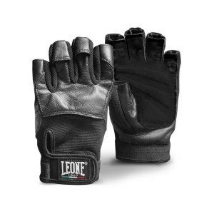 Leone Gym Gloves - AB713 (Black)