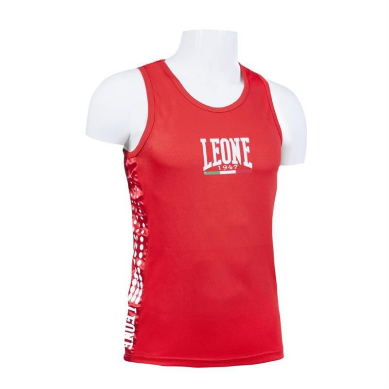 Leone Boxing Singlet (Red)