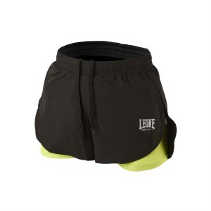 Leone WOMAN PRO TECH SHORTS  (Black X Yellow)