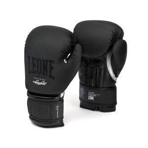Leone Black and White Boxing Gloves - GN059 (Black...