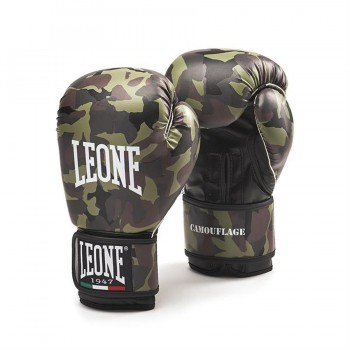 Leone Camouflage Boxing Gloves (Green)