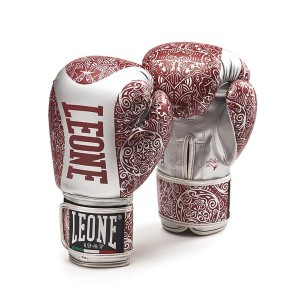 Leone Maori Boxing Gloves - GN070 (Red/Silver)