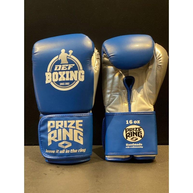 DEF Boxing X Prize Ring Boxing Gloves (Blue)