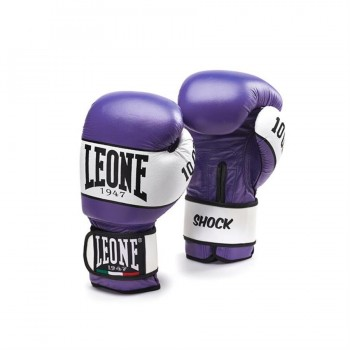 Leone Shock Boxing Gloves - GN047 (Purple)