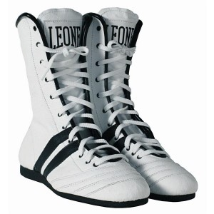 Leone Boxing Boots (White) - CL186