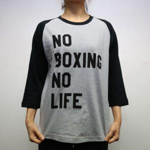 RSC No Boxing No Life 3/4 Tee (Grey)