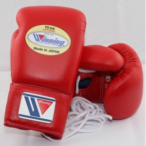 Winning Boxing Gloves (Lace/Red)