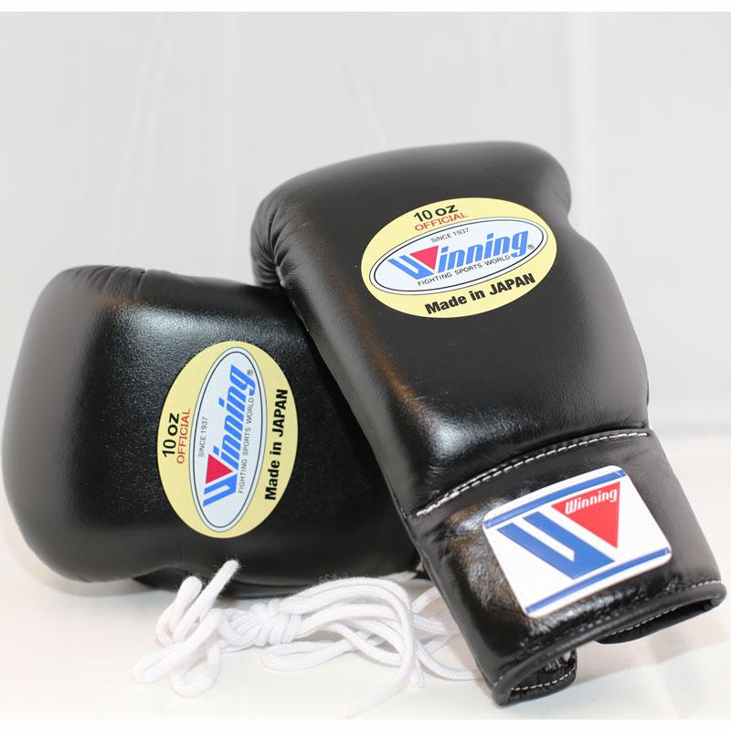 Winning Boxing Gloves (Lace/Black)